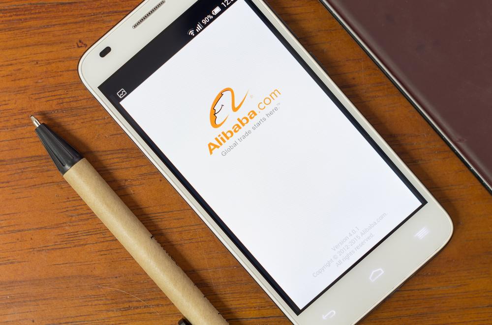 Alibaba on phone