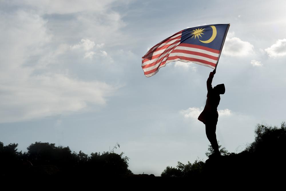 Man with Malaysia flag