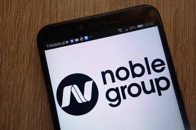 Noble Group on phone
