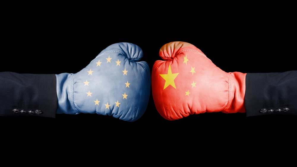 China Europe boxing gloves