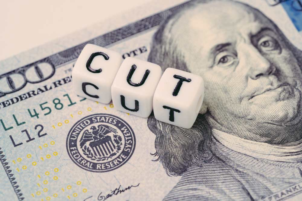 Interest rate dollar note and cut