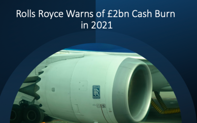 Rolls Royce Warns of £2bn Cash Burn in 2021; Flying Hours to Be 55% of Pre-Covid Levels